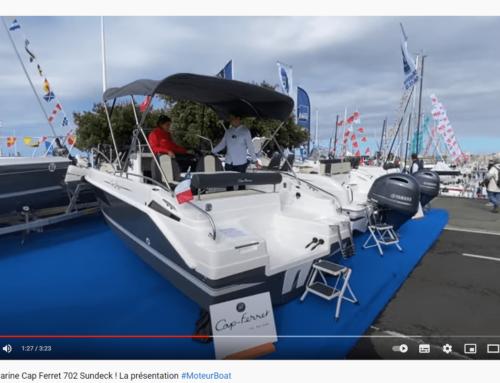 Le magazine Moteur Boat présente le nouveau B2 Marine Cap Ferret 702 Sundeck