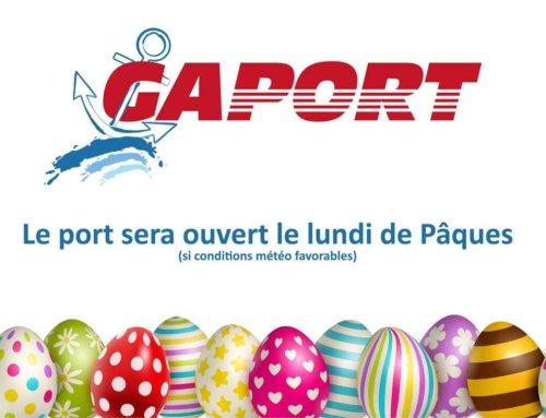 [info jour férié] Port ouvert le lundi de Pâques sous réserve de conditions météo favorables